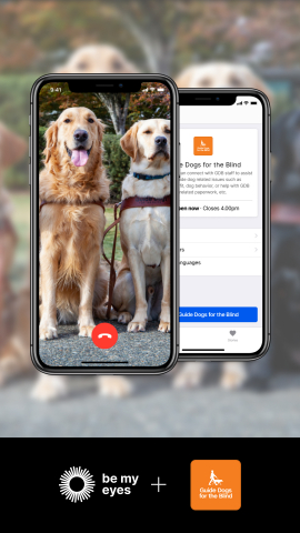 Guide Dogs for the Blind's partnership with Be My Eyes, an innovative app, gives clients who are blind or visually impaired real-time video assistance. (Photo: Guide Dogs for the Blind)