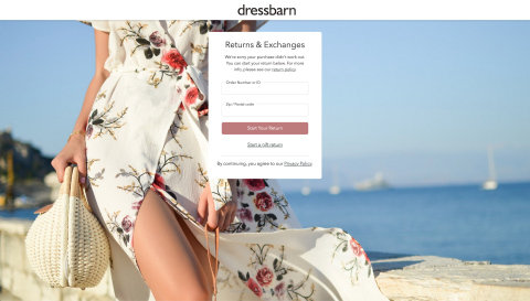 "Dressbarn Partners With Happy Returns To ""Restore"" In-Person Returns For Shoppers Of The Well-Known Brand (Graphic: Business Wire)"
