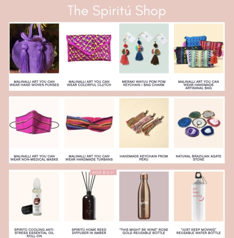 Popular items on the Spiritú Shop (Photo: Business Wire)