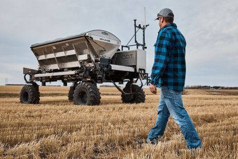 The Dot® Power Platform, part of Raven Autonomy™, is a mobile diesel-powered platform designed to work autonomously with a wide variety of implements commonly used in agriculture. (Photo: Business Wire)