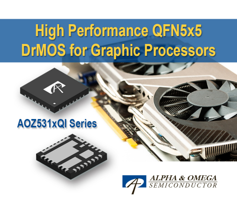 AOZ531x DrMOS Family Achieves New Performance Benchmarks Advancing Next-Generation Graphics Cards and Gaming Notebooks (Graphic: Business Wire)