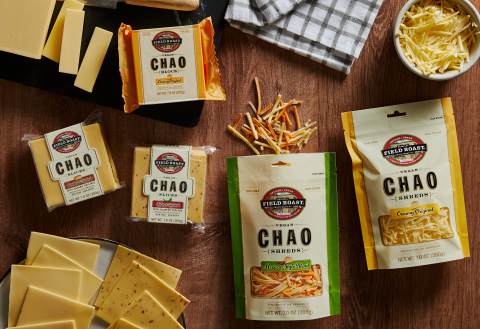 In addition to new plant-based slice flavors like Smoked Original Slices and Spicy Original Slices, Chao Creamery now delivers a Creamy Original Block, Creamy Original Shreds and Mexican Style Blend Shreds. (Photo: Business Wire)