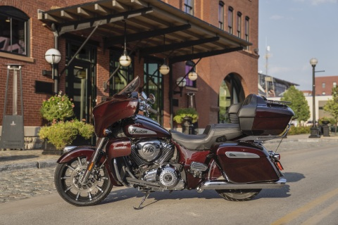 The New 2021 Indian Motorcycle Roadmaster Limited Delivers Modern Styling with Chrome Finishes (Photo: Business Wire)