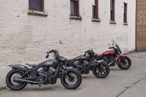 With a 61 cubic-inch (1000 cc) motor, delivering 78 horsepower, the Scout Sixty and Scout Bobber Sixty are each approachable and attainable with an MSRP starting at $8,999. Riders looking for more punch can opt for the 69 cubic-inch (1133 cc), 100 horsepower, engine in the Scout and Scout Bobber. (Photo: Business Wire)