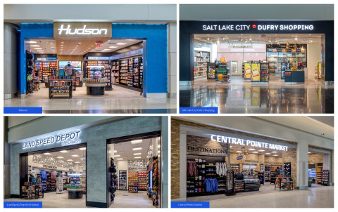 Hudson's New Stores at Salt Lake City International Airport in Concourse A: