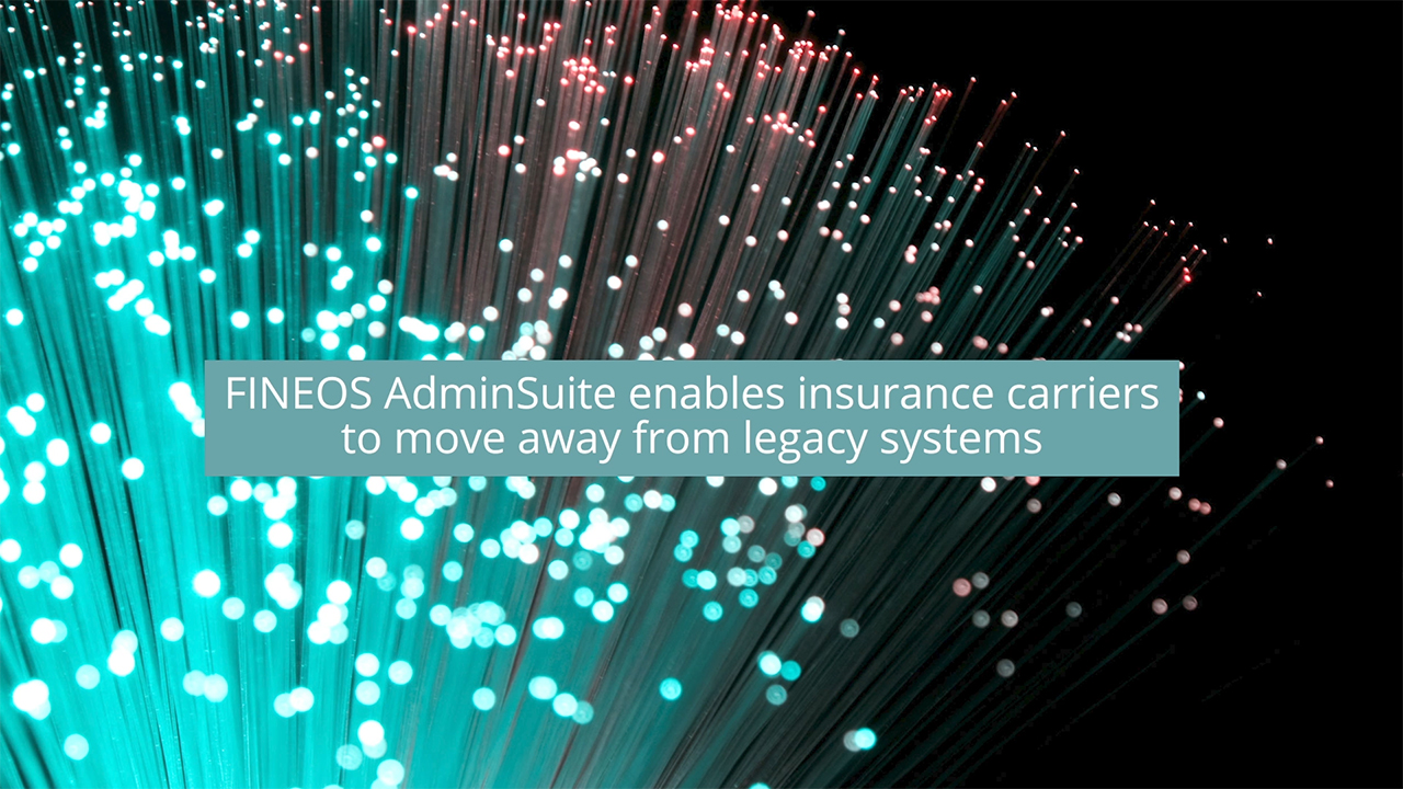 FINEOS AdminSuite enables insurance carriers to move away from legacy systems Michael Kelly, CEO, FINEOS, discusses how FINEOS AdminSuite was purpose built for the Employee Benefits market and has been componentized so that insurance carriers can focus on their pain points
