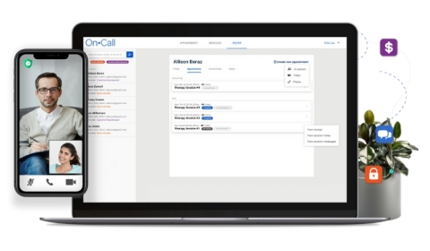 OnCall enables healthcare enterprises to rapidly launch their own virtual care platform that is highly configurable to their brand and workflow. The technology is used by more than 600 leading healthcare brands, digital health startups, and healthcare systems. (Photo: Business Wire)
