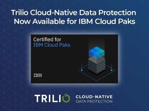 Trilio cloud-native data protection platform for Kubernetes available to IBM customers and partners via IBM Cloud Paks (Graphic: Business Wire)