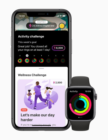 The LumiHealth app features challenges designed to help users sleep better, move more, eat well, and live more mindfully. (Photo: Business Wire)