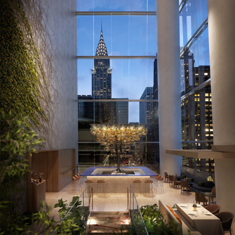Located at the corner of Vanderbilt Avenue and East 42nd Street, Le Pavillon sits directly across from Grand Central Terminal in One Vanderbilt, Midtown's tallest tower. (Photo: Business Wire)