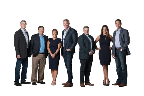 From left to right: The leadership team at PGT Innovations, including David McCutcheon, Brad West, Debbie LaPinska, Jeff Jackson, Brent Boydston, Sherri Baker and Bob Keller (Photo: Business Wire)