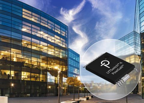 Power Integrations推出基于氮化镓技术的高效率LYTSwitch-6 LED驱动器IC,适合紧凑型智能照明设计 (图示:美国商业资讯)