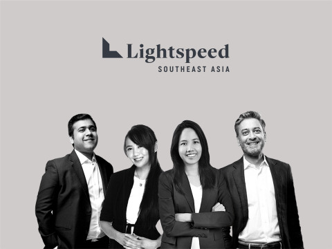 Lightspeed Southeast Asia Team (pictured left to right): Akshay Bhushan, Marsha Sugana, Pinn Lawjindakul, and Bejul Somaia.(Graphic: Business Wire)