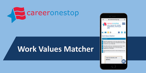 CareerOneStop's Work Values Matcher (Graphic: Business Wire)