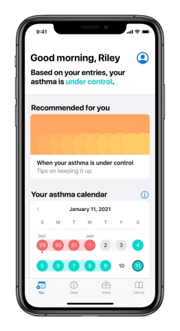 Anthem, Inc. announced today a new study that examines how the use of everyday devices, like Apple Watch and iPhone, may help individuals with asthma better self-manage their condition for improved clinical outcomes. (Graphic: Business Wire)