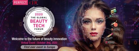 Perfect Corp. et le CEW France sont fiers de présenter la première édition européenne du Global Beauty Tech Forum le 2 Octobre 2020 (Graphic: Business Wire)