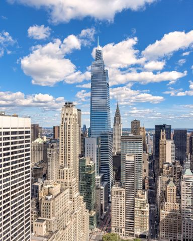 Standing 1,401 feet tall and totaling 1.7 million square feet, One Vanderbilt offers an unparalleled package of amenities, innovative office design, technology offerings, best-in-class sustainability practices and a prime location at the doorstep of Grand Central Terminal. The iconic tower is the tallest office tower in Midtown Manhattan. (Photo: Business Wire)