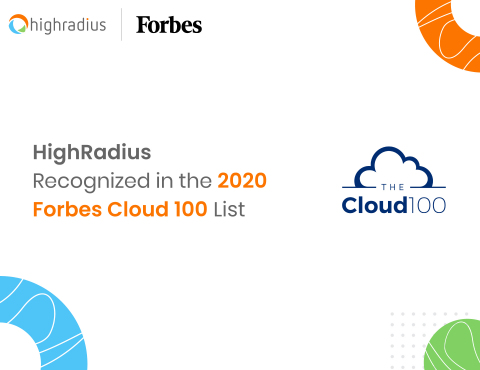HighRadius Recognized in the 2020 Forbes Cloud 100 List (Graphic: Business Wire)