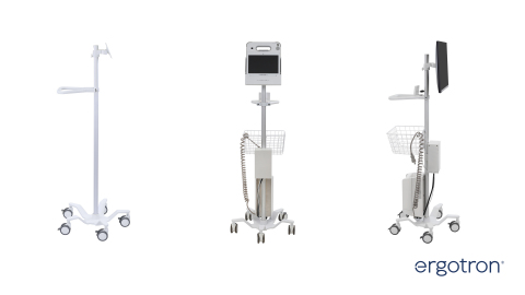 Ergotron's new StyleView Pole Cart can be configured to support healthcare, education, industrial applications and more. (Photo: Business Wire)