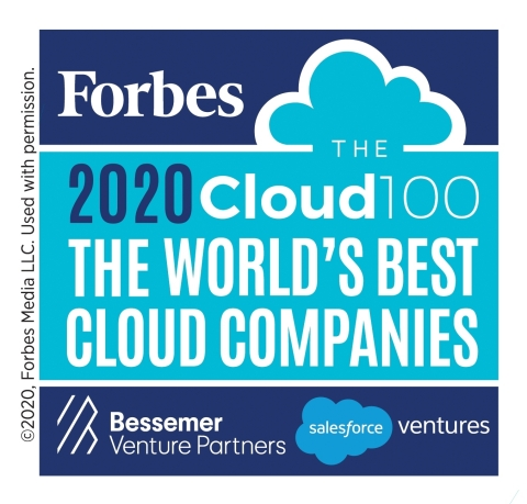 2020 Forbes Cloud 100 (Graphic: Business Wire)
