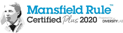 Dorsey is pleased to announce that for the third year in a row it has achieved Mansfield Rule Certification Plus. (Logo: Diversity Lab)