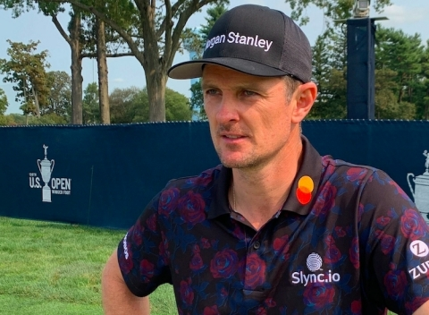 Justin Rose unveils new sponsorship with Slync.io ahead of U.S. Open (Photo: Business Wire)