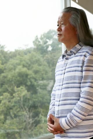 首尔半导体和首尔伟傲世创始人李贞勋(音)再次表达不剪头发,专注业务30年的意志。 (照片:美国商业资讯)