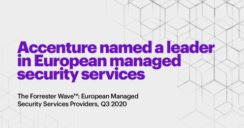 Accenture was named a Leader in the latest Forrester Research report on European Managed Security Services (Graphic: Business Wire)