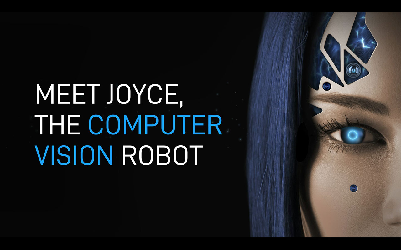 Immervision introduces JOYCE, the world's first humanoid robot developed by the computer vision community.