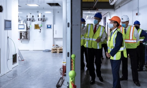 NorthStar Isotope Processing Facility Dissolution Hot Cells as seen from clean room (Photo: Business Wire)