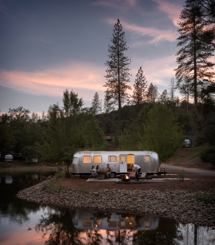 A luxury Airstream Suite at AutoCamp Yosemite. Credit: AutoCamp