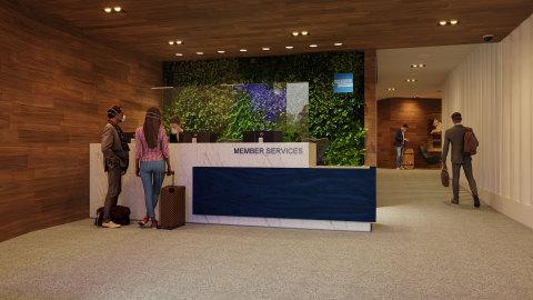 ニューヨーク・ラガーディア空港のセンチュリオン・ラウンジ完成予想図(写真:ビジネスワイヤ)
