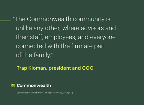 Commonwealth President and COO Trap Kloman explains the firm's unique community. (Photo: Business Wire)