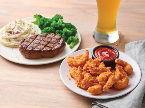Applebee's Gives Guests More to Love with a Dozen Double Crunch Shrimp for Only $1 with any Steak Entrée (Photo: Business Wire)