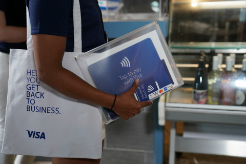 "Visa's Back to Business kits include new ""tap to pay preferred"" point-of-sale materials, branding, educational resources and special offers. (Photo: Business Wire)"