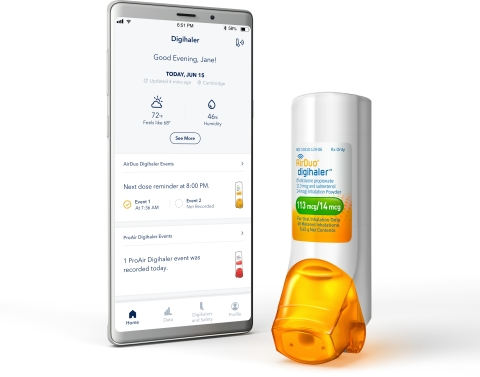 AirDuo® Digihaler® with Digihaler® App (Photo: Business Wire)