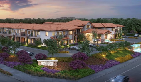 Rendering of Griffin Living senior housing and memory care facility, Solana Way, in Temecula, CA. (Photo: Business Wire)