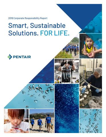 Global water treatment company Pentair announces the release of its 2019 Corporate Responsibility (CR) Report. (Graphic: Business Wire)