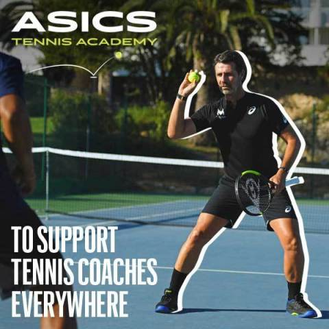 Introducing ASICS Tennis Academy, a virtual platform to support and empower tennis coaches everywhere. (Photo: Business Wire)