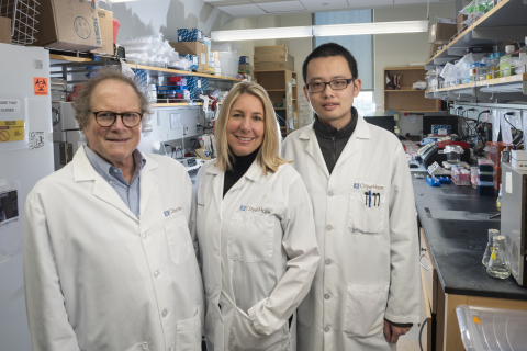 City of Hope Scientists Michael Barish, Ph.D., Christine Brown, Ph.D., and Dongrui Wang, Ph.D. ( Photo Credit: City of Hope)