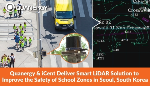 Quanergy and iCent Deliver Smart LiDAR Solution to Improve the Safety of School Zones in Seoul, South Korea (Graphic: Business Wire)