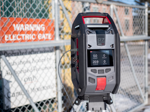 The G7 EXO cloud-connected area gas monitor from Blackline Safety features output ports that integrate with facility ventilation systems, gates, sirens and strobes (Photo: Business Wire)