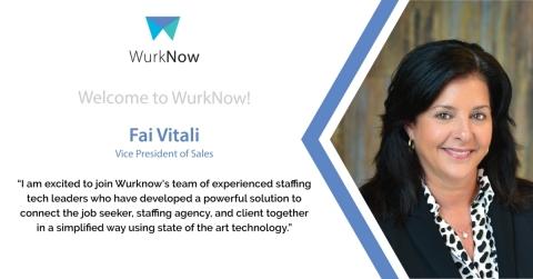 Fai Vitali, WurkNow VP of Sales (Graphic: Business Wire)