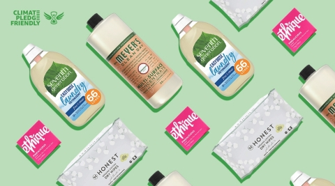 Climate Pledge Friendly, a new program to help make it easy for customers to discover and shop for more sustainable products (Graphic: Business Wire)