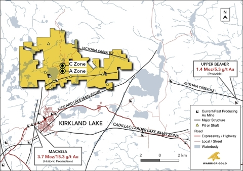 Figure 1. Goodfish-Kirana Property Location with A Zone and C Zone (Graphic: Business Wire)