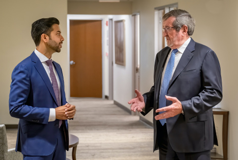 (L-R) Chethan Sathya, MD, director of Northwell's Center for Gun Violence Prevention and Michael Dowling, President and CEO of Northwell Health. (Photo: Business Wire)