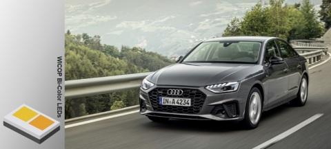 配备首尔半导体WICOP Bi-color LED的2020款奥迪 A4车型(资料来源:Audi)