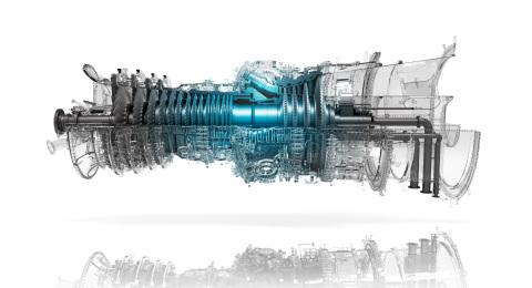Turbina a gás habilitada para hidrogênio Mitsubishi Power M501JAC. (Crédito: Mitsubishi Power)