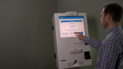 The AB Kiosk System autonomously coordinates and conducts court-mandated alcohol monitoring, greatly reducing administrative costs and the risk of COVID-19 transmission. (Photo: Business Wire).