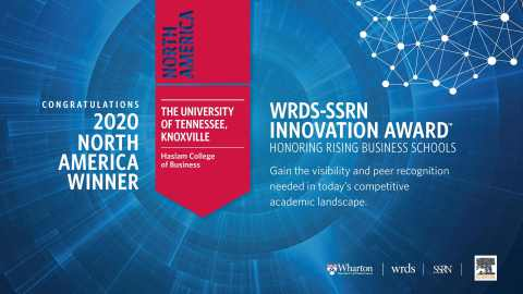 2020 North America WRDS-SSRN Innovation Award winner (Photo: Business Wire)